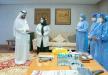 محمد بن راشد:  يتلقى جرعة من لقاح الكورونا