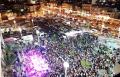 الالاف من أهالي سخنين والمنطقة يتوافدون للاحتفال بمهرجان انوار العيد في سخنين