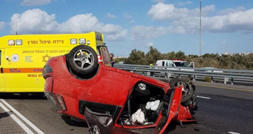 ثلاث اصابات في حادثي طرق بين باقة وام الفحم
