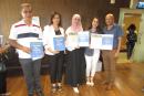 الثانوية أبو حاطوم يافة الناصرة تفوز بجائزة قطرية بإدارة الأعمال