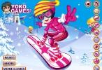 لعبة التزلق على الجليد بملابس البنات