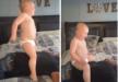 فيديو لطفل صغير يلعب فوق ظهر أبيه يتصدر الترند ويحصد ملايين المشاهدات