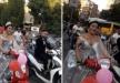 عروس مصرية تقود دراجة نارية للاحتفال بزواجها بجوار فارس أحلامها