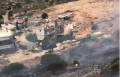 دير حنا: حريق هائل في منطقة وعرة والسيطرة عليه