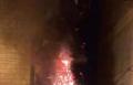سخنين: احراق شجرتي الميلاد في المدينة من قبل مجهولين