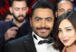 تامر حسني في عيد ميلاد... قالب حلوى وصورة فتاة وتحذير من غضب زوجته (فيديو)