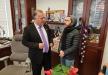 سعيد قالوش الصوت المتألق يزور رئيس البلدية