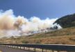 حريق هائل على أطراف الكرمل .. اغلاق شارع 70 ونفق شارع 6