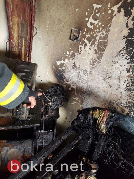 سبب الحريق اليوم في الناصرة .. طنجرة كهربائية