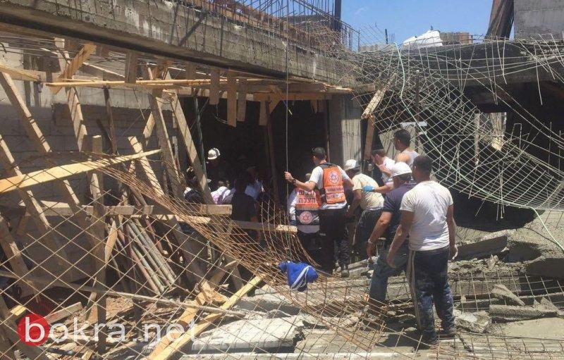 إنهيار سقف ورشة في مركز البلاد وإصابة 4 عمال عرب بجراح بينها خطيرة!