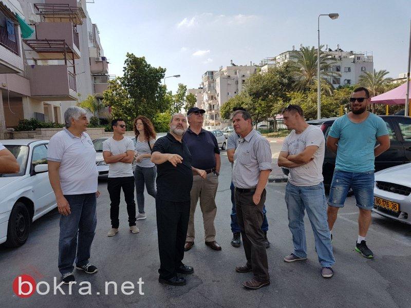 حاج يحيى في جولة ميدانية للاطلاع على مطالب العمال ومتابعة تطبيق قوانين الامان