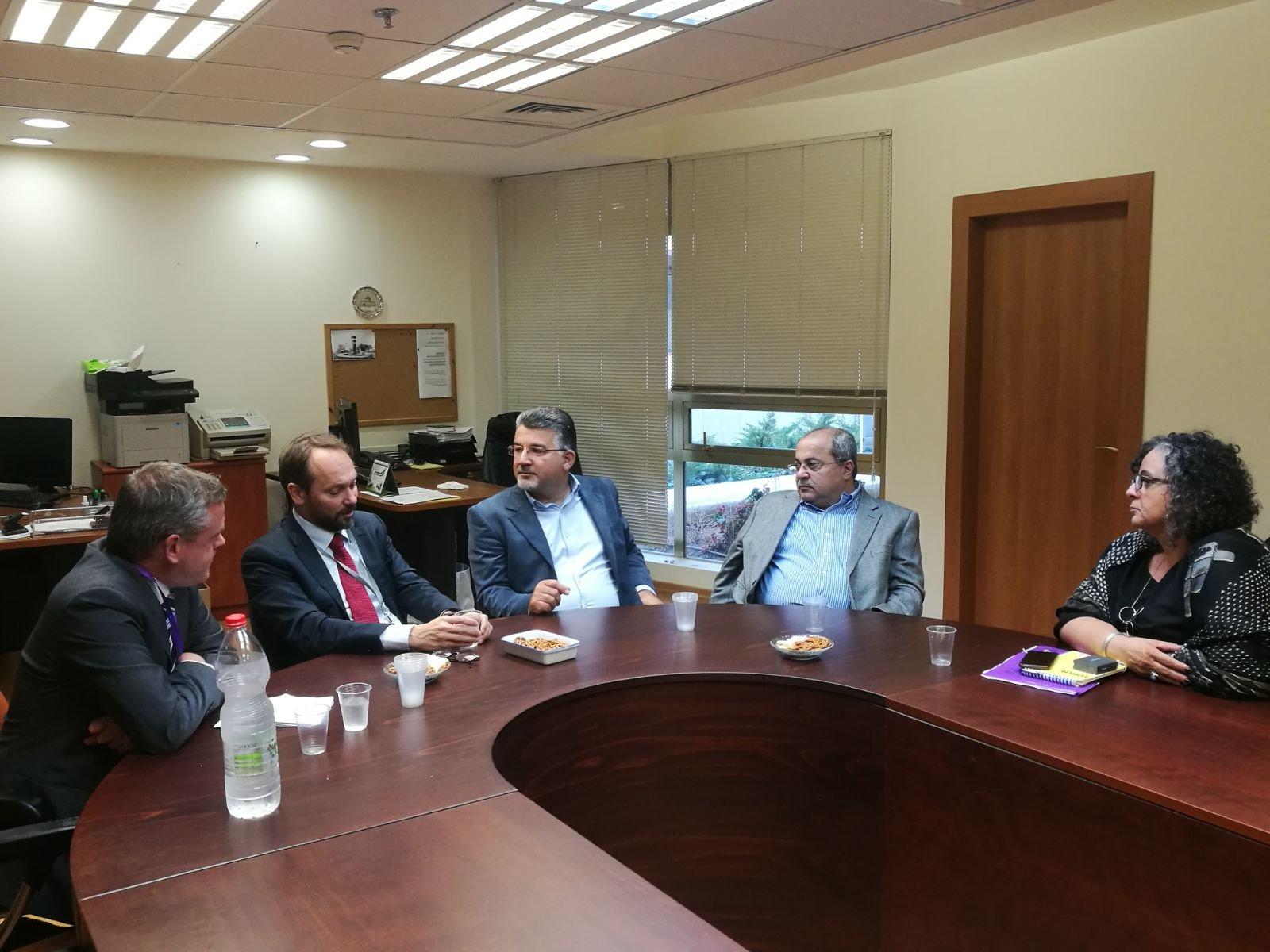 جبارين والطيبي وتوما- سليمان يلتقون السفير الاوروبي الجديد
