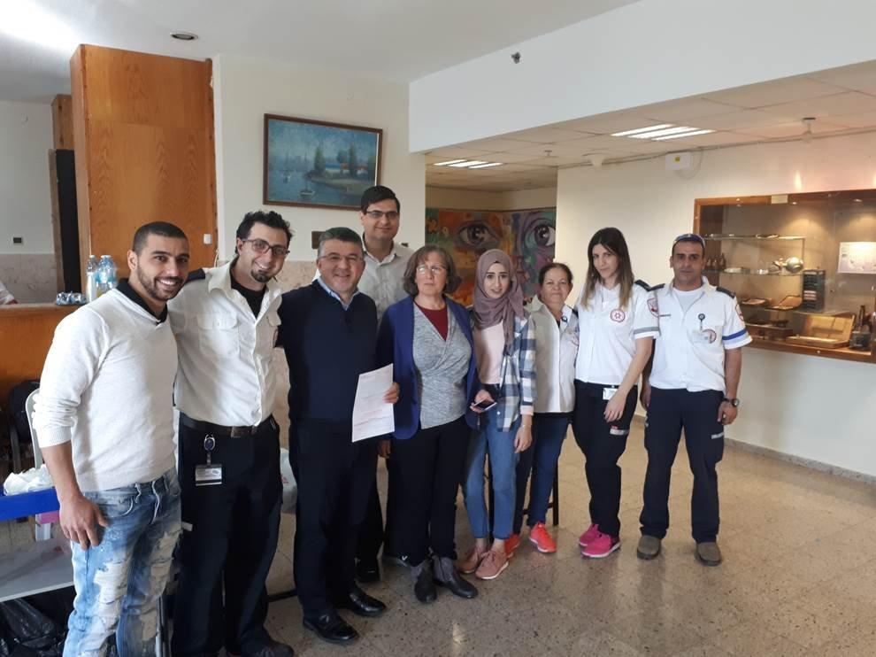 مستشفى الناصرة وعائلة د. توفيق نصير يشكرون كل من شارك في حملة التبرّع بالدّم للدكتور توفيق نصير
