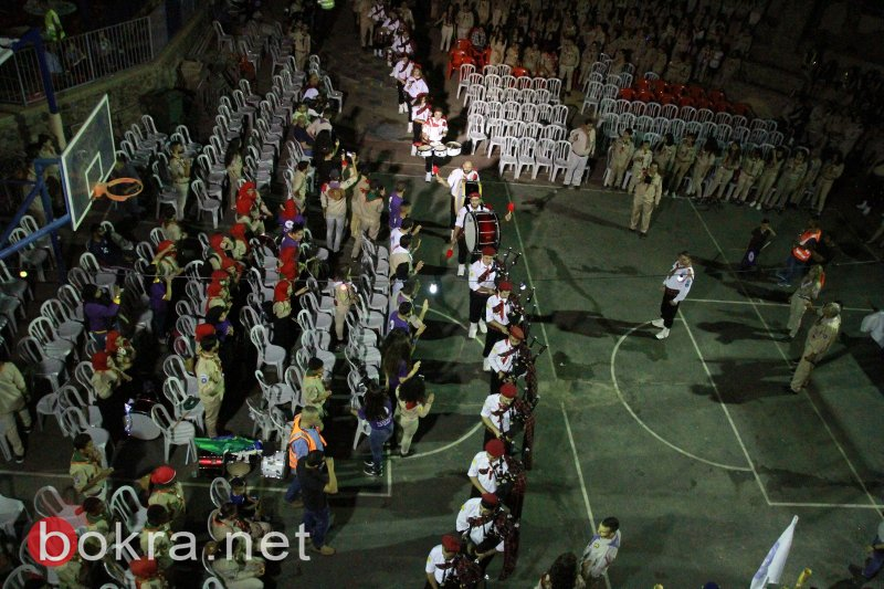 بمشاركة نحو ألف عضو، والمئات من أهل القرية .. مسيرة كشفية ضخمة في كفر مصر