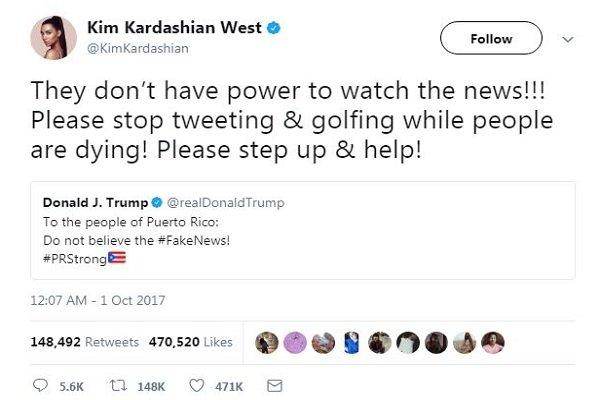 كيم كارداشيان تناشد ترامب: توقف!