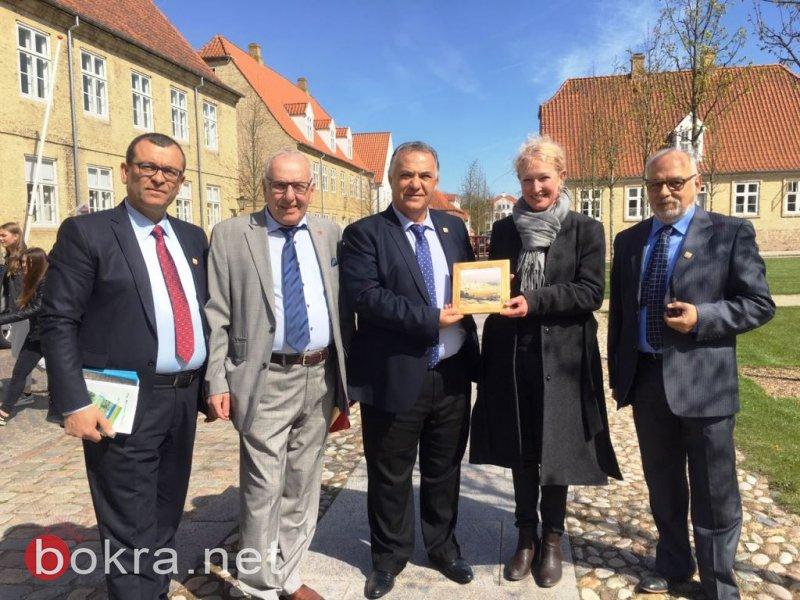 رئيس بلدية الناصرة علي سلام يحل ضيفا على بلدية كولدانك في الدنمارك