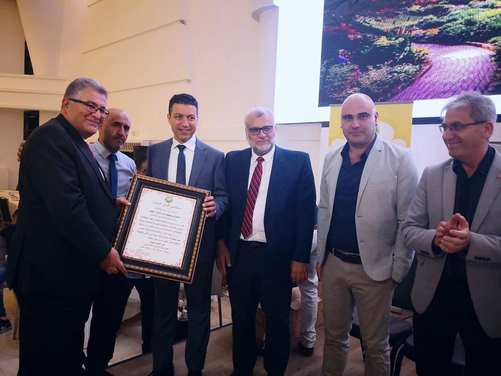 مستشفى الجليل في مدينة الناصرة يستضيف جامعة القدس ويكرم رئيسها الاستاذ الدكتور عماد ابو كشك