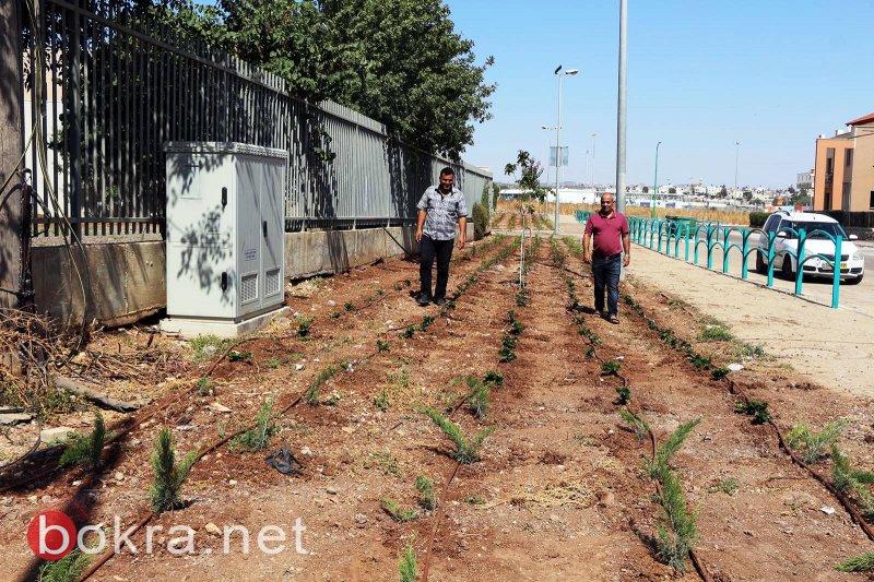 المقيبلة: المواطنون يقودون مشروعًا تطوعيًا لصيانة وتجديد مدخل القرية