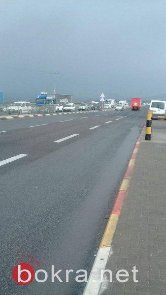 حادث طرق على مفترق مجيدو قرب أم الفحم يتسبب بإصابات وبأزمة سير حادة