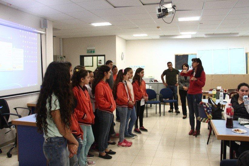 تعاون عربي يهودي  بين مدرسة طرعان ومدرسة هرتسليا- بات يام