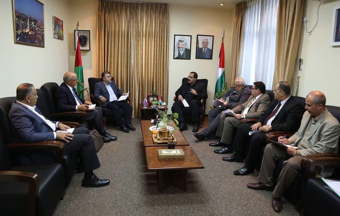 النائب جبارين يلتقي بوزير التربية والتعليم الفلسطيني حول قضايا طلابنا بالجامعات الفلسطينية