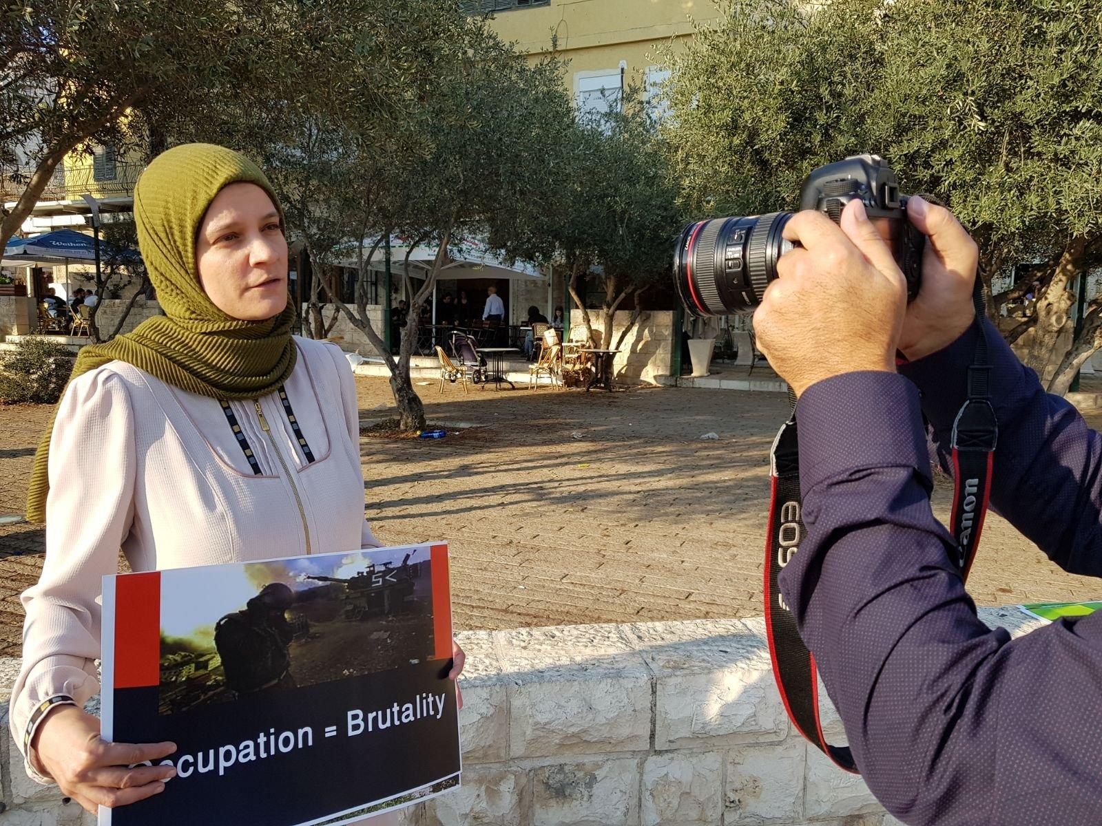 الوفاء والإصلاح في 'وقفة كرامة' انتصارا لإمرأة الفلسطينية