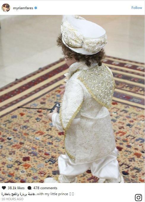 هكذا احتفل ابن ميريام فارس بعيد البربارة!