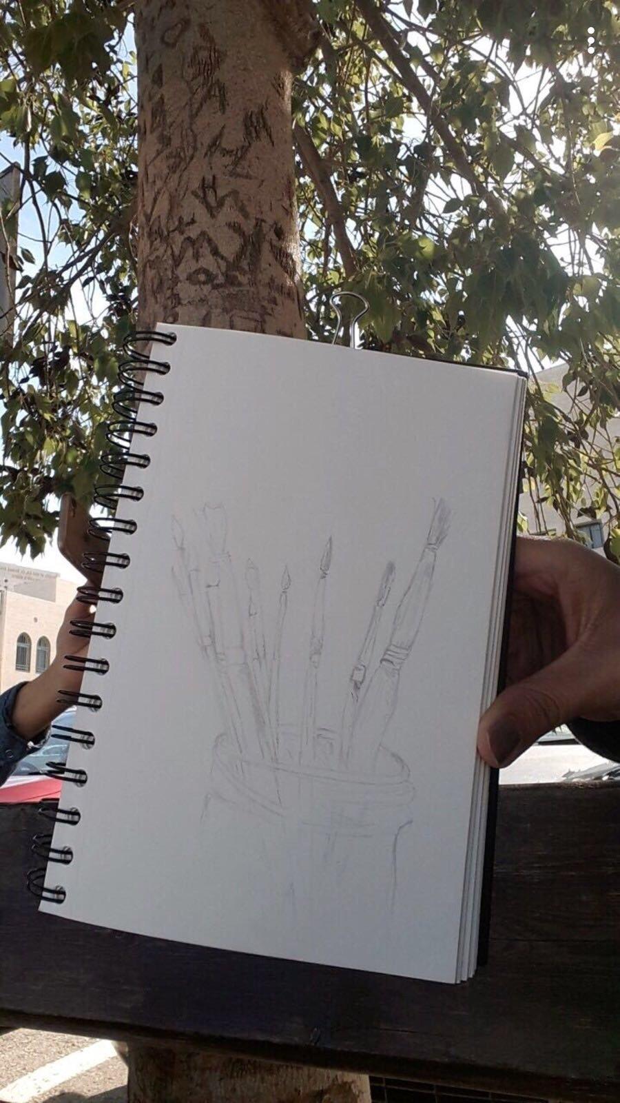 أفنان عقاد من جت.. طالبة لقب اول في الفنون وفي طريقها للاحتراف