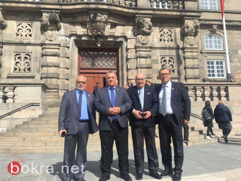 رئيس بلدية الناصرة علي سلام والوفد المرافق يزورون البرلمان الدنماركي