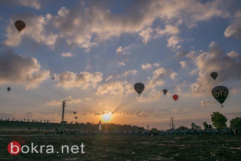 بحضور فاق الـ7000، سماء الجلبوع تتلوّن بمناطيد من كل أنحاء العالم في مهرجان المناطيد العالمي