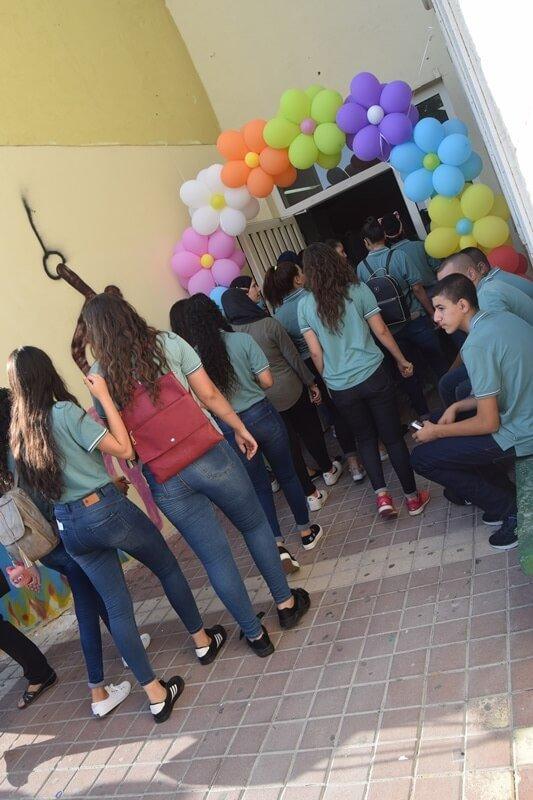اجواء احتفالية مع افتتاح العام الدراسي في ثانوية عيلوط