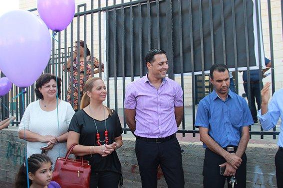 رئيس بلدية عكا ونائبه يقومان بزيارة المدارس العربية مع افتتاح السنة الدراسية الجديدة