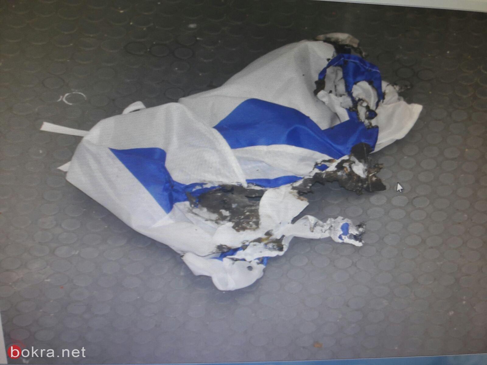 الشرطة: صلبان معقوفه، وعبارات الله اكبر،وحرق علم اسرائيل في رمات غان