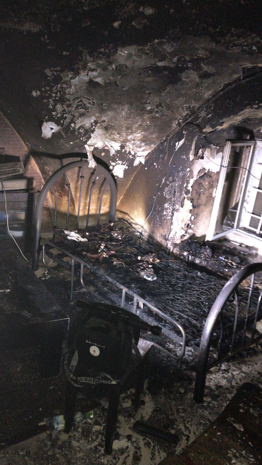 حريق هائل يلتهم بيتًا في بيت صفافا بالقدس وإصابة شخص