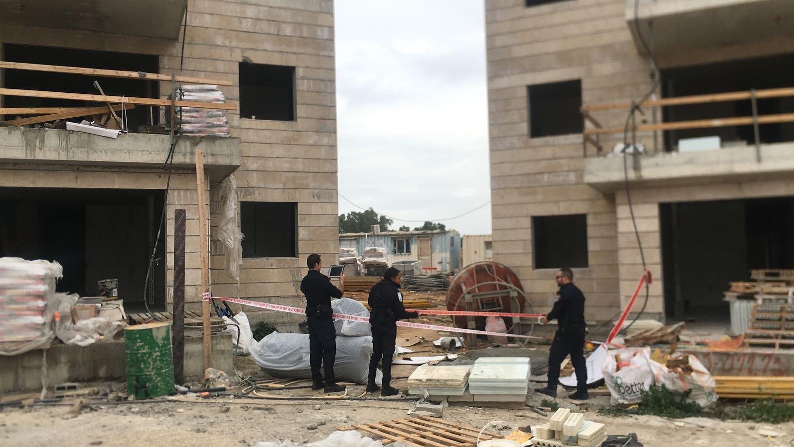 اصابة بالغة لعامل بناء في اشكلون  عسقلان