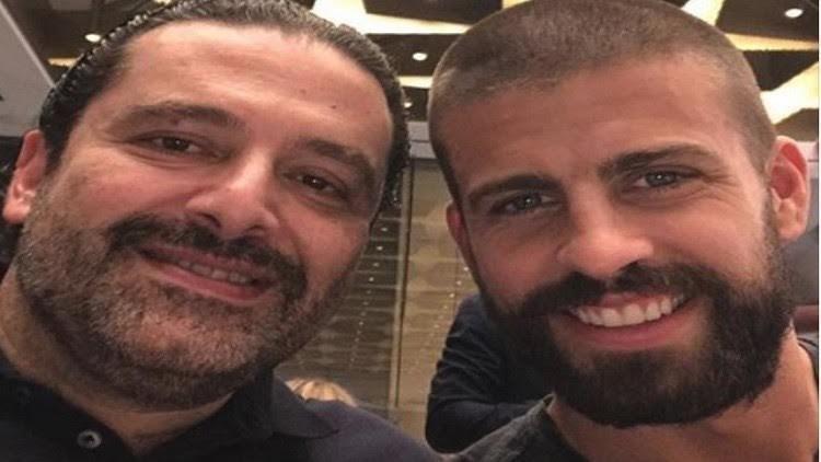 جيرارد بيكيه في لبنان، ويلتقي مع الحريري