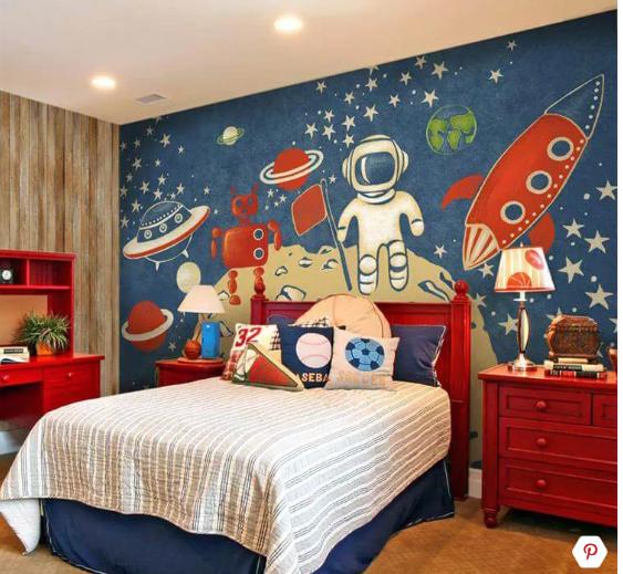 على طريقة السفن الفضائية.. ديكورات مختلفة هتغير غرف نوم أطفالك اختارى منها