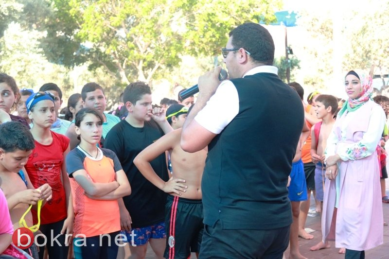 قسم الشبيبة البلدي سخنين يختتم دورات السباحة المجانية لطلاب المدينة
