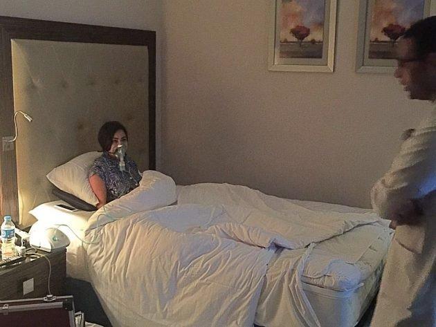 نقل شيرين الى المستشفى خلال حفل فني في مصر (شاهد)