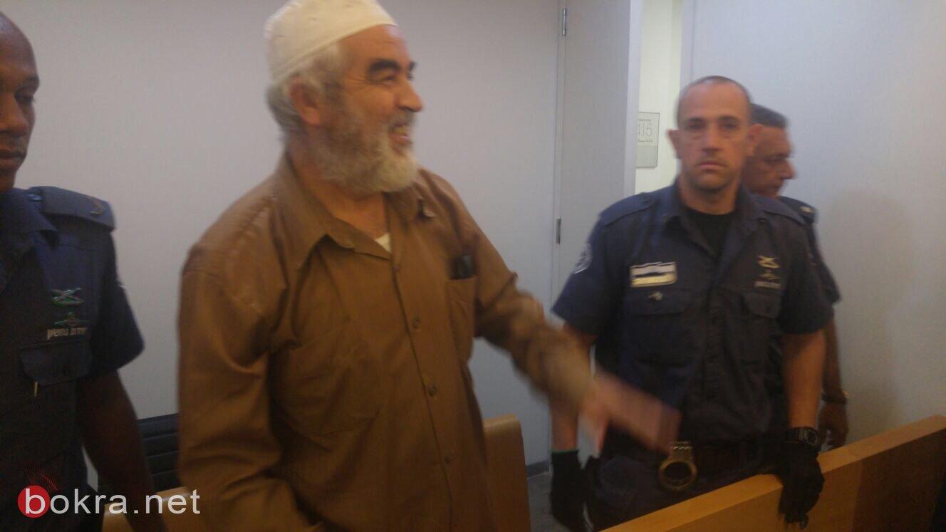 تمديد اعتقال الشيخ رائد صلاح .. ما زلت معتقلًا داخل مرحاض!
