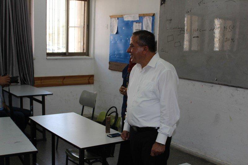 زيارة تفقدية للرئيس عادل بدير في الثانوية الشاملة كفر قاسم