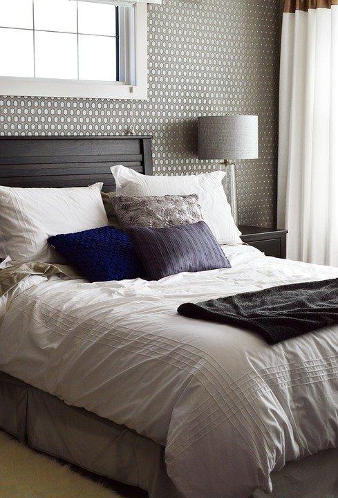 اناقة غرف النوم الرمادية