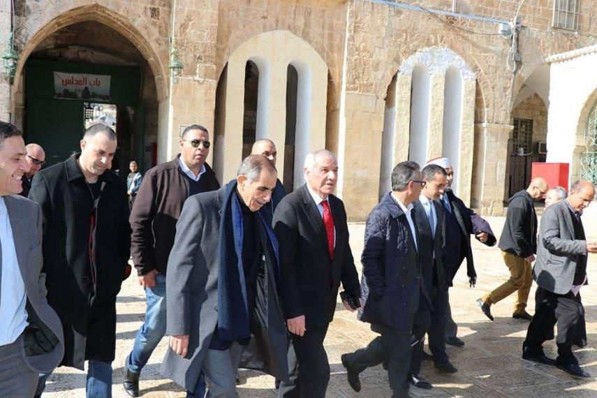 وزير الداخلية الأردني يزور المسجد الأقصى