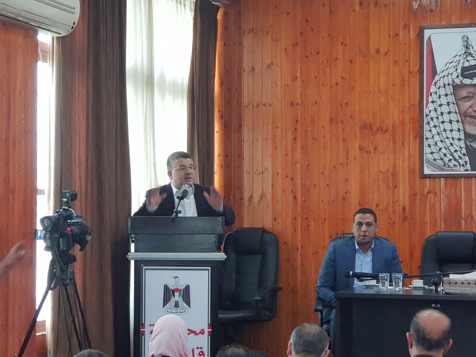 النائب جبارين في قلقيلية: وحدة الشعب الفلسطيني هي الاساس للنهوض بالقضية الفلسطينية