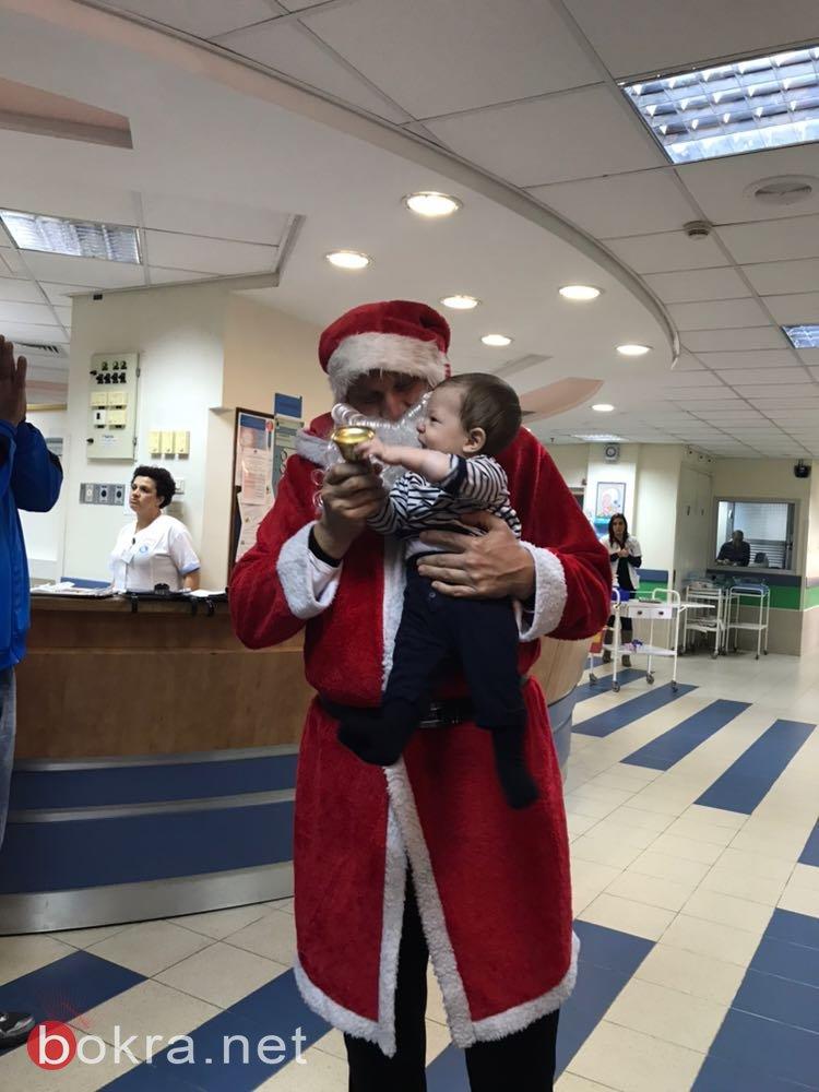 فريق الوسط العربي للشابات بكرة السلة يوزع الهدايا على المرضى