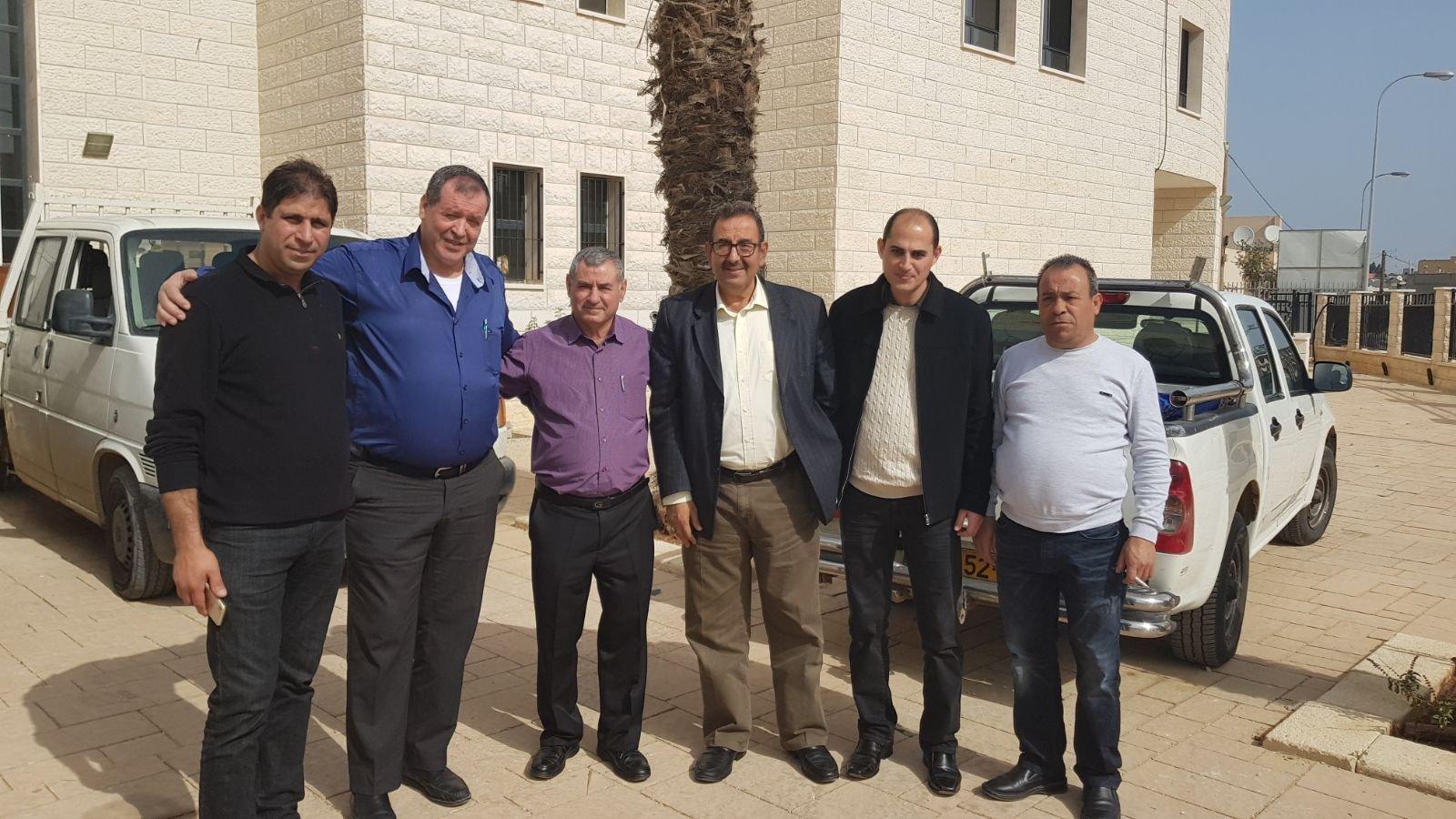 متصرف لواء حيفا والشمال في وزارة الاقتصاد والصناعة السيد رياض إبراهيم يقوم بزيارة لمدينة عرابة
