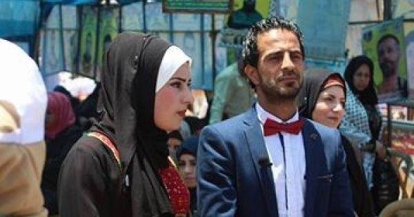 تزوجا في خيمة التضامن مع الأسرى ..