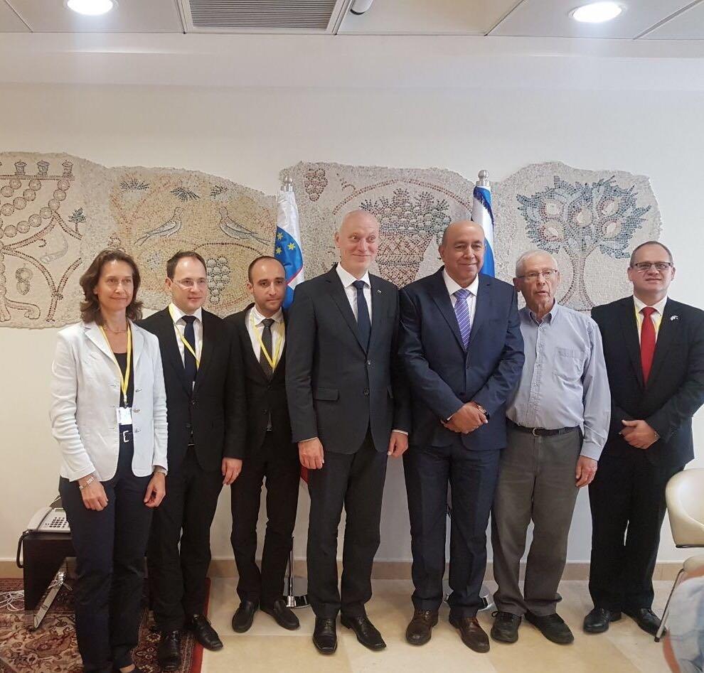 النائب زهير بهلول يستقبل رئيس البرلمان السلوفيني