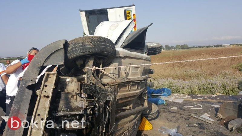 إصابة حرجة لشاب بحادث طرق مروع قرب صندلة
