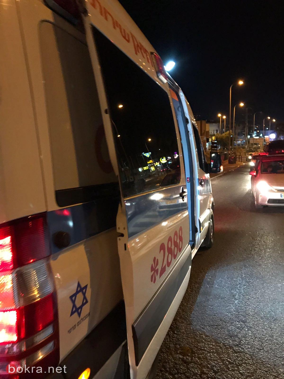 اصابات متفاوتة في حادث طرق في كفر ياسيف